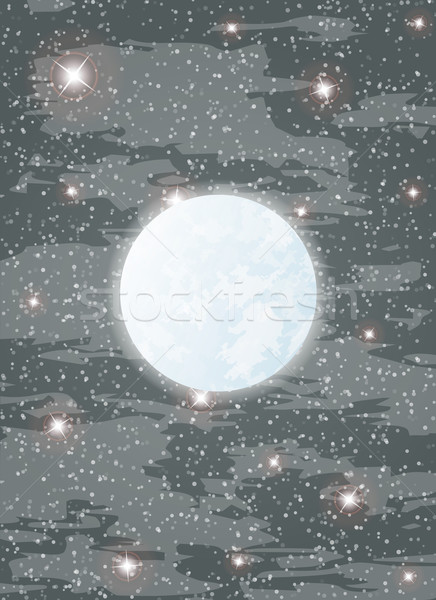 Lua estrelas brilhante muitos dente vetor Foto stock © muuraa