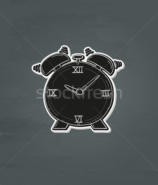 будильник черный темно дизайна знак время Сток-фото © muuraa