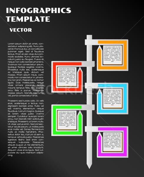Siyah infographics oklar vektör renk ok Stok fotoğraf © muuraa
