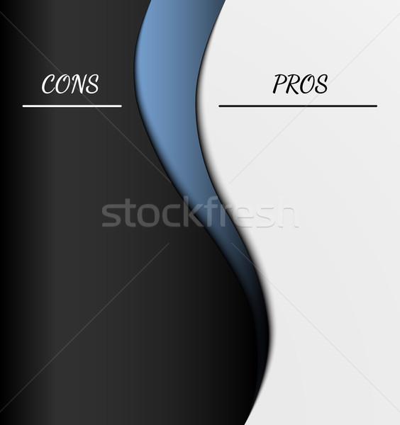 pros and cons Stock photo © muuraa