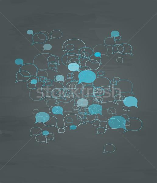 темно синий различный Mess знак Сток-фото © muuraa