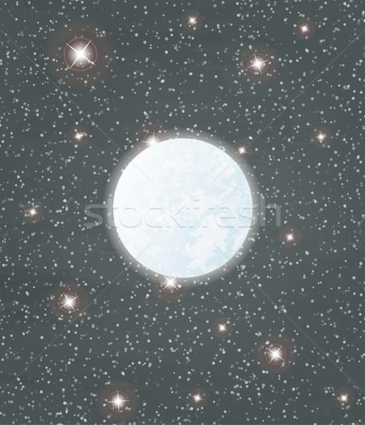 Ay Yıldız çok gökyüzü vektör Stok fotoğraf © muuraa