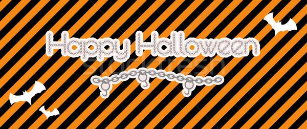 happy halloween created from chain Stock photo © muuraa
