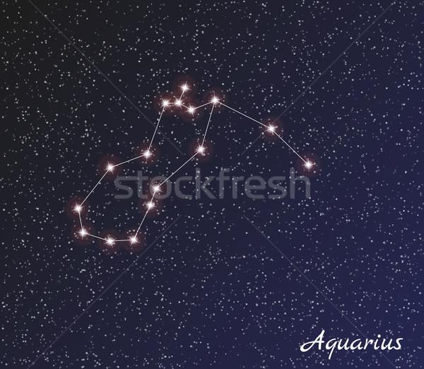 Sterrenbeeld star donkere hemel vector water Stockfoto © muuraa