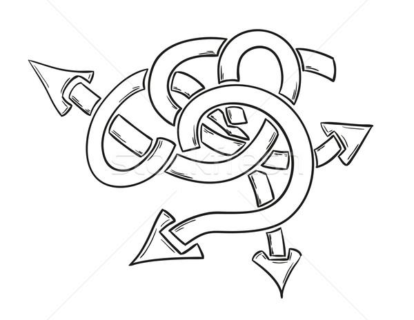 Frecce mess sketch simbolo molti opzioni Foto d'archivio © muuraa