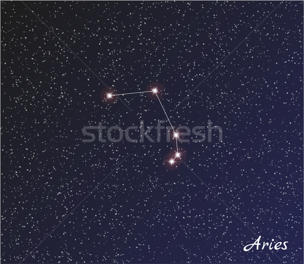 constellation aries Stock photo © muuraa