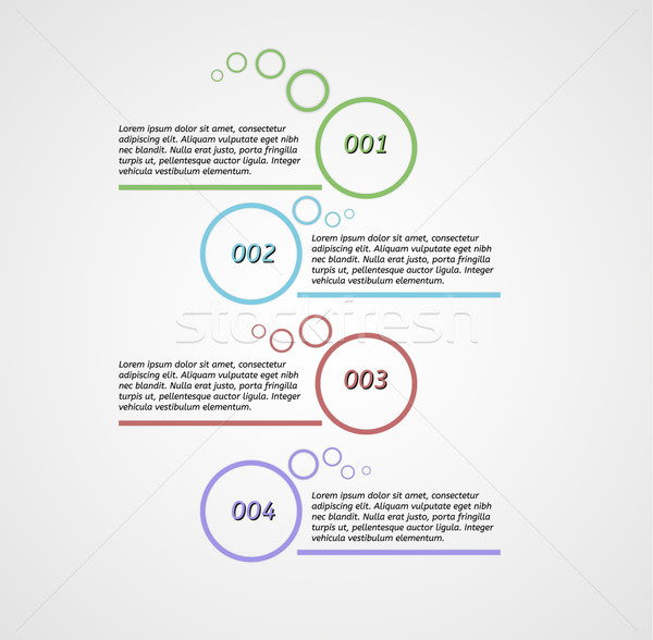 Quattro passi infografica grigio gradiente carta Foto d'archivio © muuraa