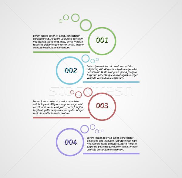 четыре шаги Инфографика серый градиент бумаги Сток-фото © muuraa