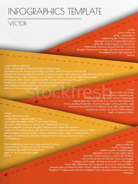 Renk şablon beş elemanları iki Stok fotoğraf © muuraa