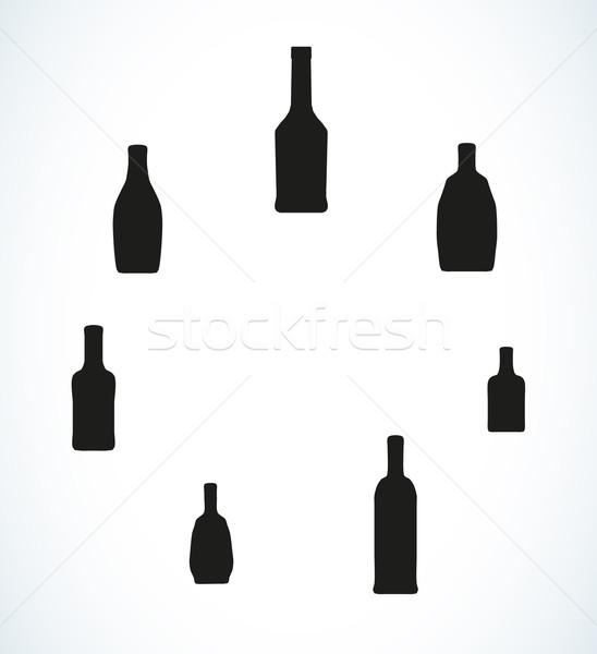 Az farklı şişeler siluetleri vektör su Stok fotoğraf © muuraa