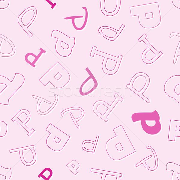 характер розовый вектора школы дизайна Сток-фото © muuraa