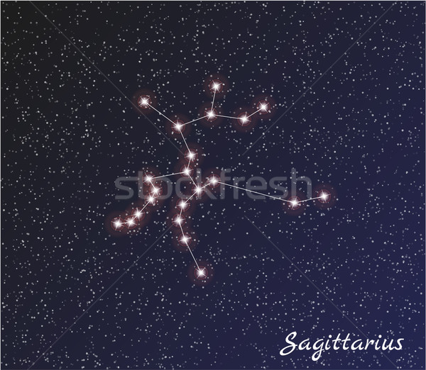 Constellation star sombre ciel vecteur eau Photo stock © muuraa