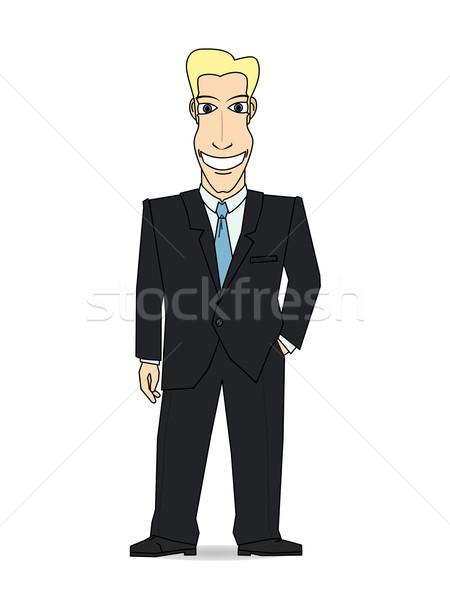 улыбаясь бизнесмен черный костюм корпоративного компания профессиональных Сток-фото © my-photomir
