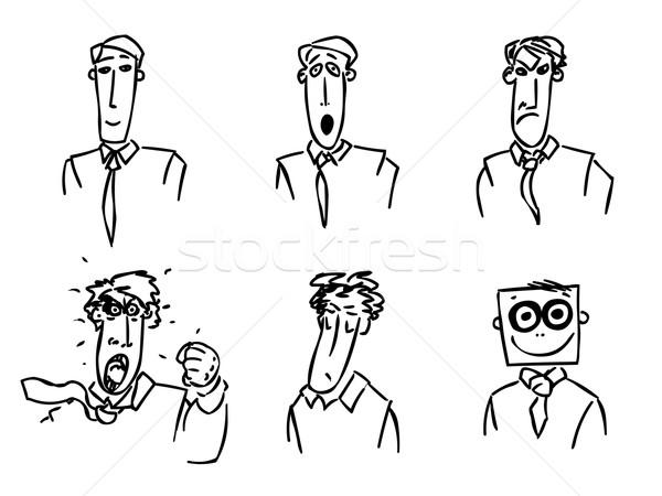 работу день бизнесмен корпоративного черный белый Сток-фото © my-photomir