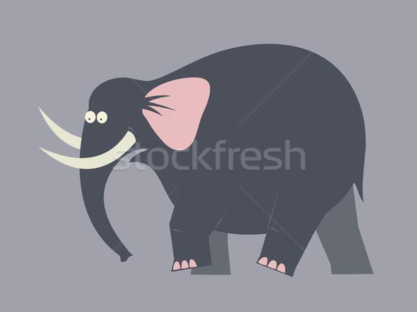 движущихся слон большой черный ходьбы сильный Сток-фото © my-photomir