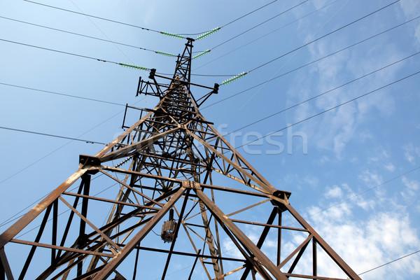 власти линия интересный угол мнение Blue Sky Сток-фото © my-photomir