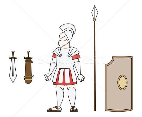 древних воин броня копье меч щит Сток-фото © my-photomir