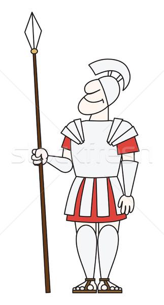 древних воин броня копье весело стали Сток-фото © my-photomir