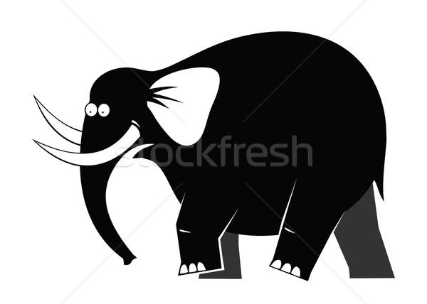Em movimento elefante grande preto andar forte Foto stock © my-photomir