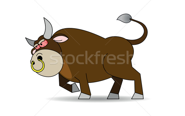 Rabid bull Stock photo © my-photomir