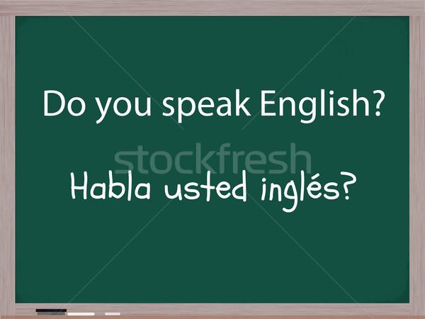Do you speak English in Spanish Stock photo © mybaitshop