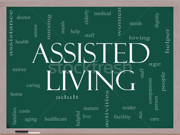 Assisted Living Concept on a blackboard Stock photo © mybaitshop