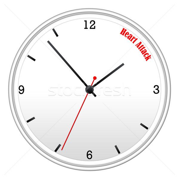 Attacco di cuore bianco muro clock ora Foto d'archivio © mybaitshop
