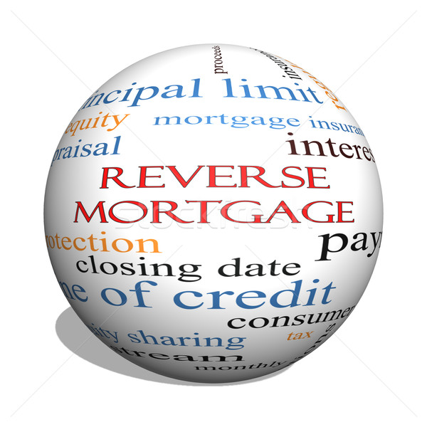 Reverse Mortgage 3D sphere Word Cloud Concept Stock photo © mybaitshop