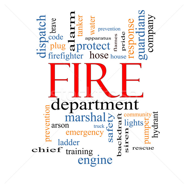 Fire Department Word Cloud Concept Stock photo © mybaitshop