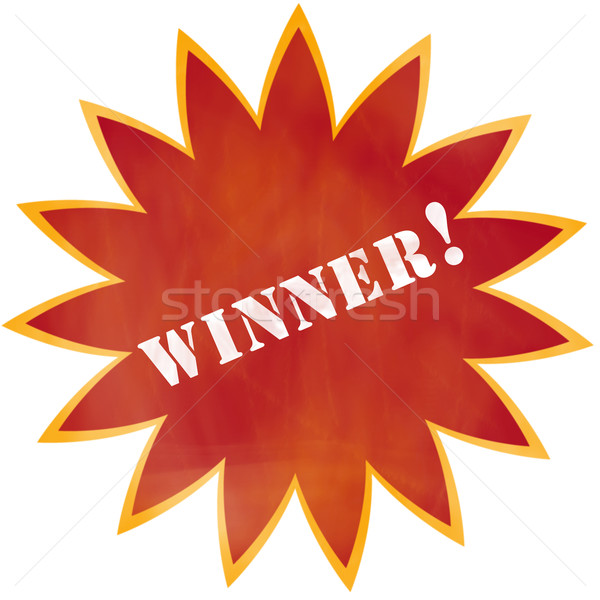 Grunge Gewinner Burst rot orange farbenreich Stock foto © mybaitshop