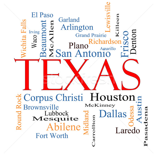 Texas State Word Cloud Concept Stock photo © mybaitshop