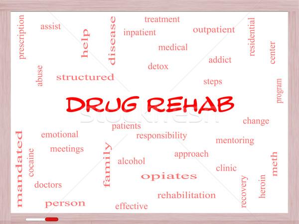 Drogue rehab nuage de mots magnifique aider Photo stock © mybaitshop