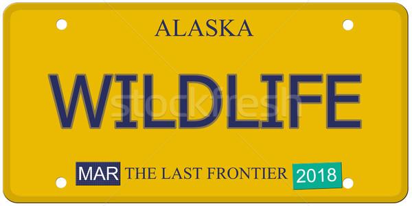 Wildlife Alaska License Plate Stock photo © mybaitshop