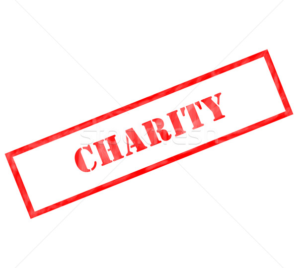 Charity red rectangle stamp  Stock photo © mybaitshop