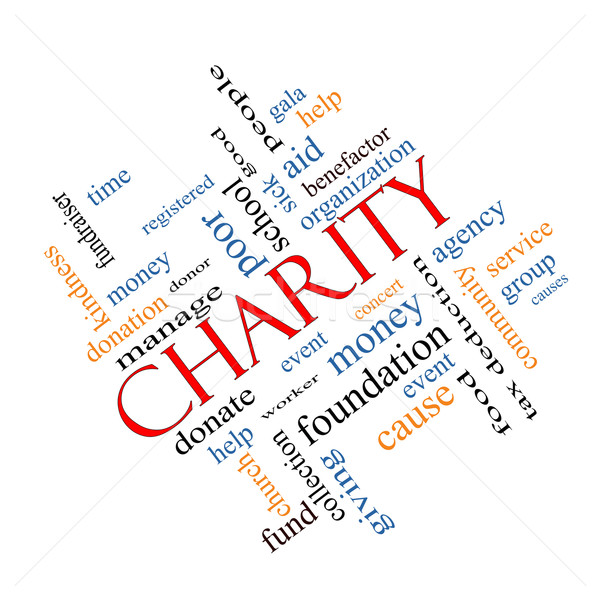 Charity Word Cloud Concept Angled Stock photo © mybaitshop