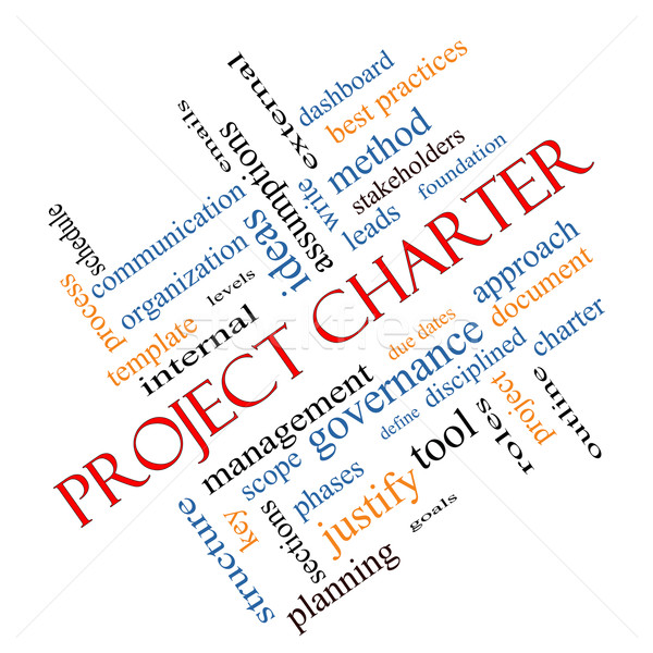 Project Charter Word Cloud Concept Angled Stock photo © mybaitshop
