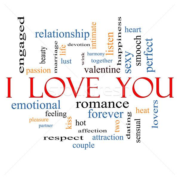 I Love You Word Cloud Concept Stock photo © mybaitshop