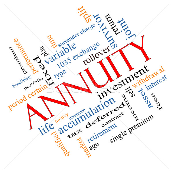Annuity Word Cloud Concept Angled Stock photo © mybaitshop