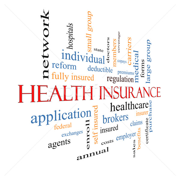 Health Insurance Word Cloud Concept Fading Stock photo © mybaitshop