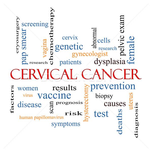 Foto d'archivio: Cancro · word · cloud · prevenzione · donne · virus