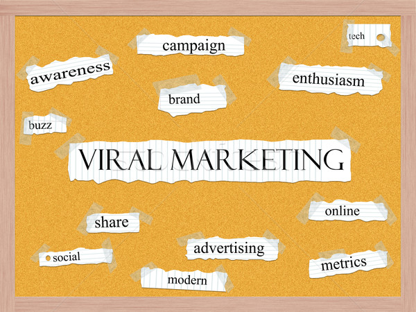 Viral Marketing Corkboard Word Concept Stock photo © mybaitshop