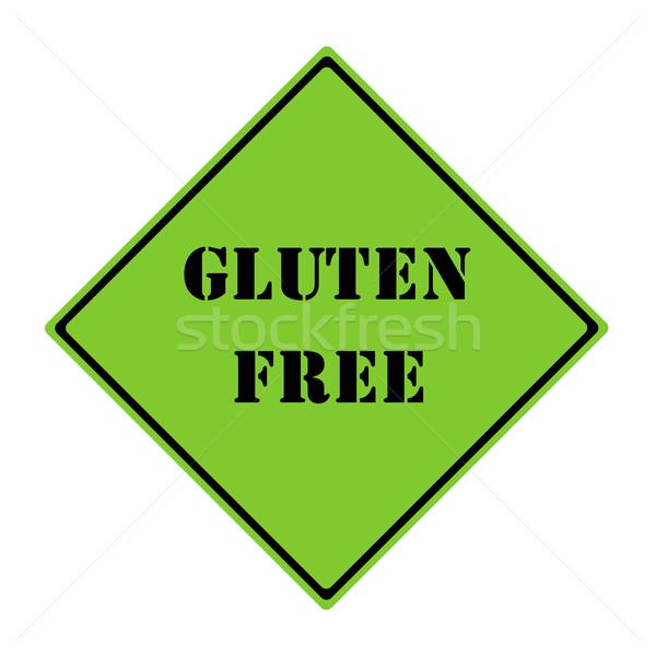 Glutensiz imzalamak yeşil siyah elmas Stok fotoğraf © mybaitshop