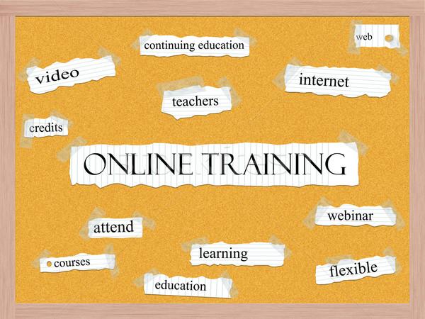 Online Training Corkboard Word Concept Stock photo © mybaitshop