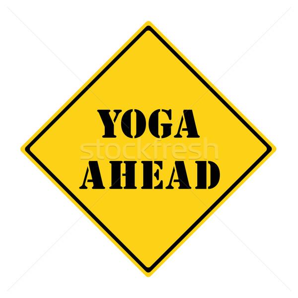 йога впереди знак желтый черный Diamond Сток-фото © mybaitshop