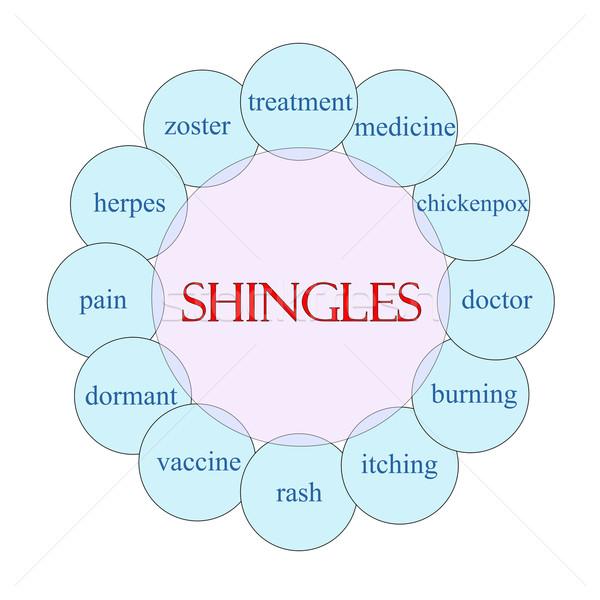 Shingles Circular Word Concept Stock photo © mybaitshop