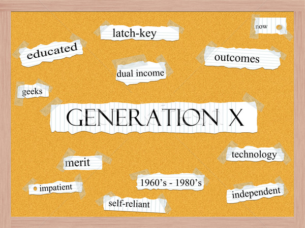 Generation X Corkboard Word Concept Stock photo © mybaitshop