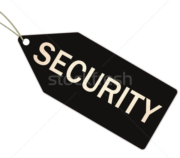 Security black tag with string Stock photo © mybaitshop