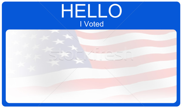 Hello I Voted Stock photo © mybaitshop