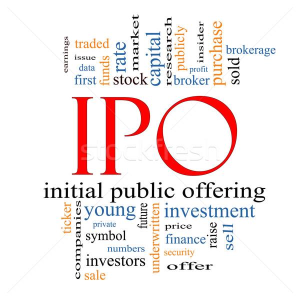 IPO Word Cloud Concept Stock photo © mybaitshop