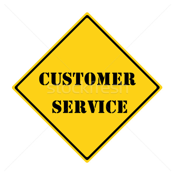 Customer Service Sign Stock photo © mybaitshop
